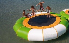 water trampoline size 5 M diameter 0.9mm PVC good quality difference material inflatable trampoline or inflatable bouncer