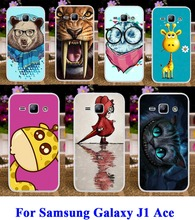 Cute Lovely Animal Pattern Custom mobile cell phone cases for Samsung Galaxy J1 Ace J110 4.3 inch J110F J110H cases hard cover