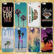 california trees Beach Surf Travel Tropical design hard clear Case Cover for Apple iPhone 7 7Plus 6 6s Plus SE 5 5s Phone Case