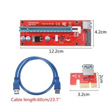 Extender Cable USB 3.0 Converter SATA PCI Express PCI-E 1X to 16X Riser Card 6 Pin DC Power Supply Cable 60CM For Bitcoin Mining