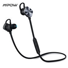 Mpow MBH29 Wolverine Bluetooth 4.1 Headset Metal Wireless Headphones In-Ear Remote Sport Mic Stereo Headset Non-magnetic Control(China)