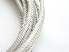 0.5MM, 1X7 50M, 304 stainless steel wire rope with PVC coating softer fishing coated cable clothesline traction rope lift(China)