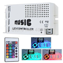 10set/lot led music controller DC12-24V 24key ir remote controller wireless LED Music Sound Control for RGB LED Strips