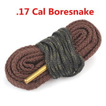 Rifle Gun Bore Snake Cleaning .17HMR .17 CAL Calibre .177 Rifle Barrel Boresnake Cleaner Pistol Brush Hunting Pinceis Caza
