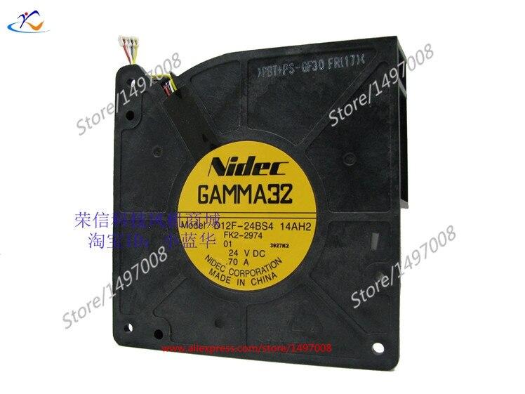 Nidec D12F-24BS4, 14AH2  DC 24V 0.70A 120x120x32mm Server Square fan<br>