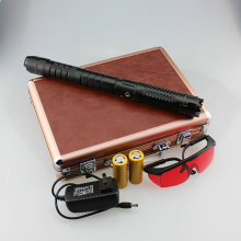 Moobom Blue Laser Pointer 450nm 5000mw High Power Burning Beam Laser Pen With 2*26650 Battery And Charger Goggles T2