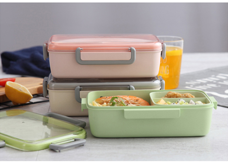 TUUTH New Microwave Lunch Box Independent Lattice For Kids Bento Box Portable Leak-Proof Bento Lunch Box Food Container A3