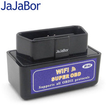 JaJaBor ELM327 WIFI scanner OBDII Car Tester Diagnostic Tool for Apple iOS , Android devices, Windows PC, Mac OSX and Linux(China)