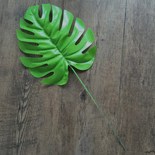 1pcs Artificial Leaf Tropical Palm Leaves Simulation Leaf For Hawaiian Luau Theme Party Needlework Decorations Home Garden Decor