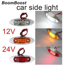 BoomBoost hot sale 1PCS 3 colors for choice Waterproof Side Marker Lights Clearance Lamp Trailer Truck Bus Car 3LED 12V 24V