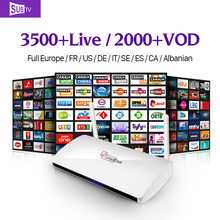 LEADCOOL HD IPTV Smart Android TV Box H265 STB with iptv Europe Arabic QHDTV IUDTV Account IPTV Subscription 1 Year Media Player