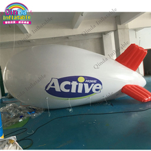 Flying PVC helium advertising blimp,3m long inflatable airship balloon for sale(China)