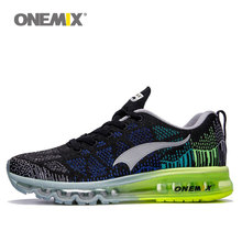 Original Onemix max 2017 mens weaving running shoes breathable mesh outdoor sport athletic walking shoe size 35-46 free shipping