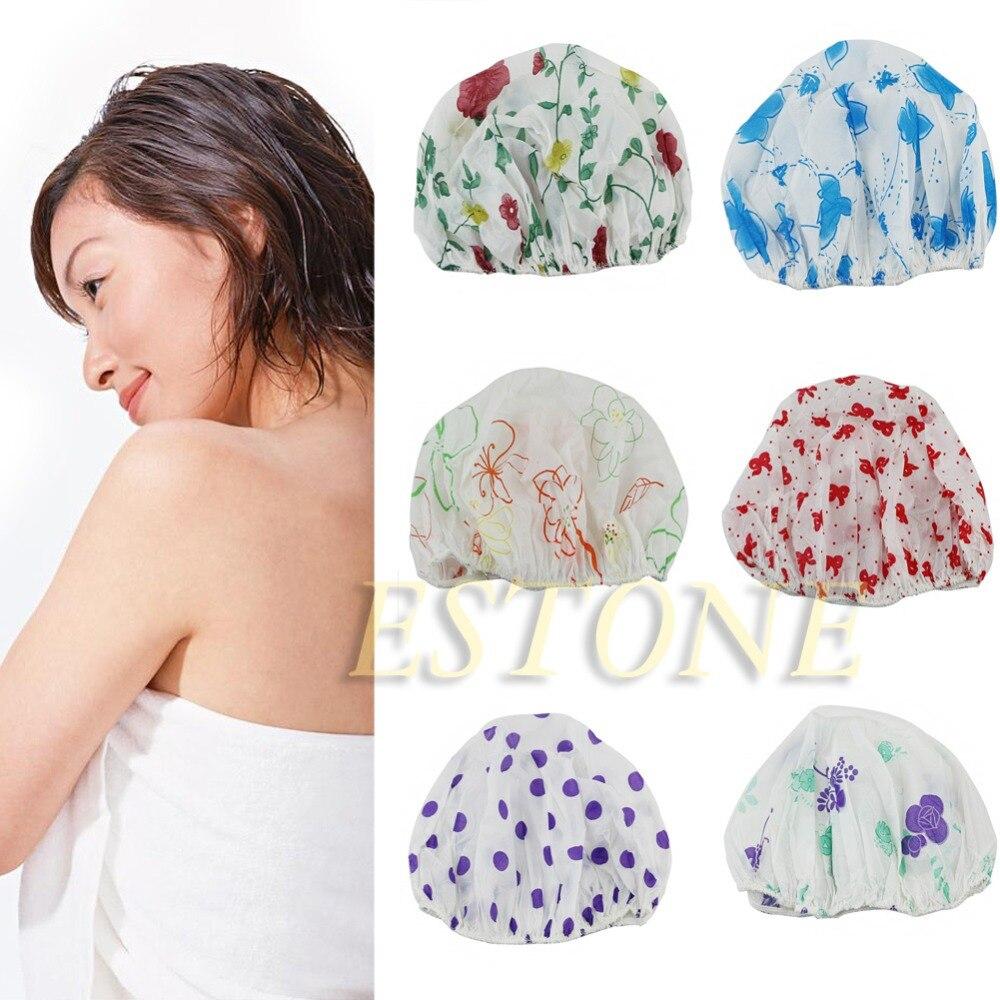 Bath & Shower Beauty & Health Waterproof Women Elastic Lace Shower Bouffant Hair Bath Cap Hat Spa Protect Fm88 Sale Price