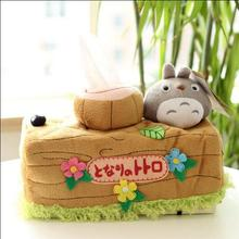1pcs 25*14cm Lovely Chinchillas Totoro Plush Doll Toy Tissue Boxes Extraction Household Product Totoro Gifts For Girls