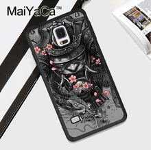 Japan Samurai Soft Rubber Case for Samsung Galaxy S4 S5 S6 S7 edge S8 plus Note 3 4 5 Full Cover TPU Phone Case