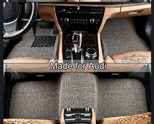 PVC Coil Car Floor Mats for Audi A1 A3 A4 A6 A7 A8 Q3 Q7 Q5 car carpet all weather floor liner soft car rugs 129d