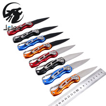 Jelbo 1Pcs Protable Pocket Folding Knife Mini Peeler Outdoor Survival Hunting Camping Tool Key Ring Tactical Rescue Hand Tools
