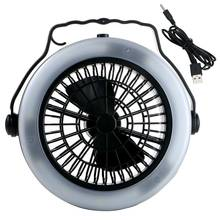 Outdoor Camping Portable USB Rechargeable LED Fan Light Lantern Multifunction hanging Tent Lamp W/Hook 3 Modes(China)
