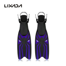 Adjustable Swimming Fins Adult Swimming Snorkeling Foot Flipper Diving Long Fins Shoes Silicone Professional Diving Flippers