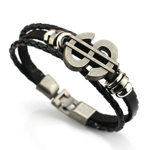 MMS Leather Men Bracelet Jewelry Man Anchor Bracelet Wristband Charm Braclet For Male Accessories USD $ Hand Cuff