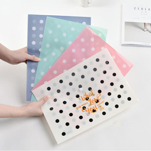 """Little Dots"" File Folder Pack of 4 Cute Plastic Document Study Working File Organizer School Big Pocket"