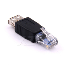 Crystal Head RJ45 Male to USB 2.0 AF A Female Adapter Connector Laptop LAN Network Cable Ethernet Converter adpater