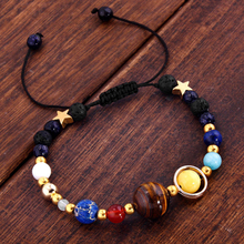 LNRRABC 1PC Hot bracelets for women Unisex Universe Solar System Eight Planets Beads Braided Bracelet Guarding The Stars(China)
