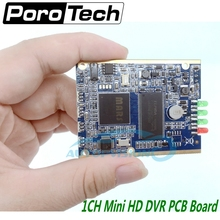 1CH mini dvr module HD XBOX DVR PCB Board up to D1 30fps support 32GB sd Card Security Digital For Model Aircraft Video Recorder(China)