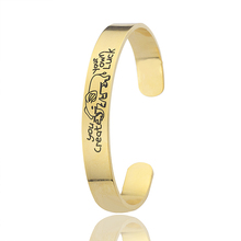 DIANSHANGKAITUOZHE Famous Brand Jewelry Stainless Steel Pulseiras Gold You Create Your Own Luck Elephant Bracelets Bangle(China)