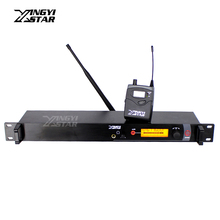 Professional Monitoring UHF Wireless In Ear Earphone Stage Monitor System Transmitter & Receiver Video Recording Studio DJ Mixer(China)