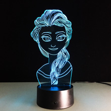 foreign trade new snow queen colorful 3D lamp touch remote desktop LED Nightlight creative lamp