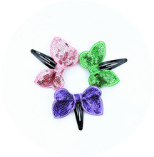 120set/lot Shining Butterfly Hair Clip Sequin Butterfly Baby Toddler Kids Head Hair Acessories For Girls