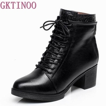 Buy 33-42 Lace Spring Autumn Winter Boots Women Shoes Warm Fur Addible Ankle Boots Martin Boots High Heels Genuine Leather Boots for $53.04 in AliExpress store