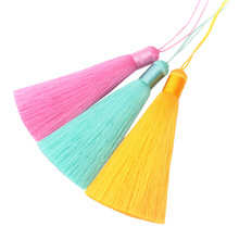 10pcs 12CM Long Silk Tassels for Jewelry DIY Multicolor Hanging Tassel Charm for DIY Handmade Jewelry Accessories Findings(China)