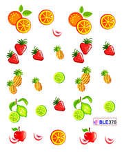 1 PCS NEW Summer Designs Nail Art Tips Water Transfer Decorations Cute Apple Strawberry Orange Decals Nail Stickers TRBLE376