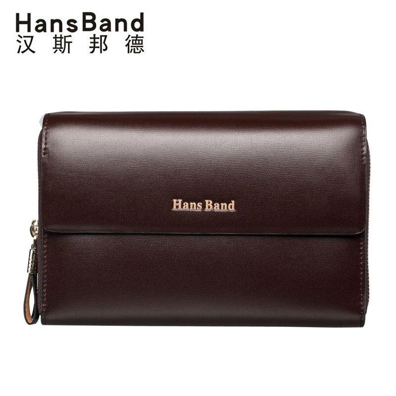 Famous Brand Men High Quality Capacity Wallets Cowhide Clutch Bag Genuine Leather Bag Luxury Handbag Double Zipper Clutch Purses<br>