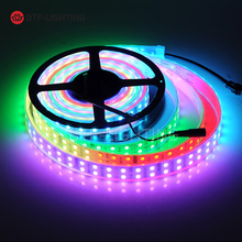 Wholesale TM1812 Led Pixle Digital strip 1Row/2Row/3Row kit set addressable SMD RGB 5050 IP67;waterproof DC12V 5m RF Controller