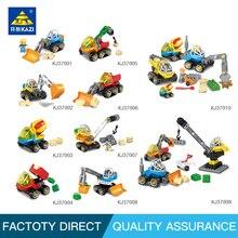 Kazi Compatible leg0 Duplo big size Early Education City engineering building blocks learning toys children 2-4 years