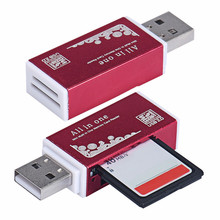 2017 Smart Card Reader USB 2.0 1 Multi Micro SD T-Flash Memory Card Reader Adapter Mobile phone PC Tablet Wholesale