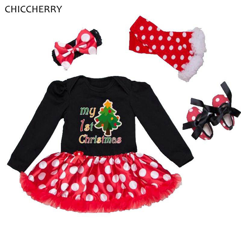 My First Christmas Costumes for Kids Lace Romper Dress Headband Leg Warmers Crib Shoes Vetement Bebe Fille Baby Girl Clothes<br><br>Aliexpress