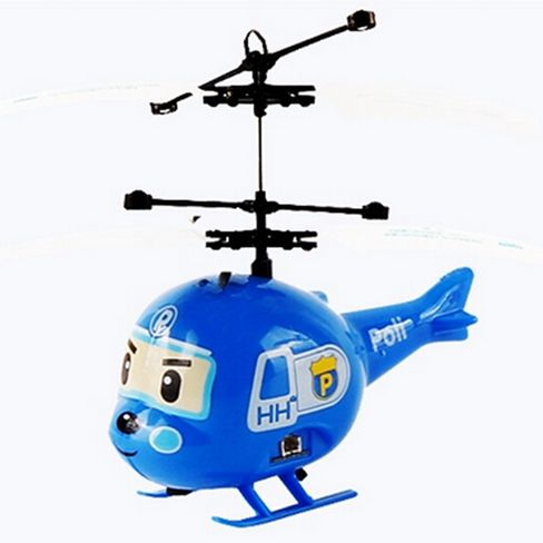 Blue Induction Mini Plane Electric Fly Toys Remote Control RC Helicopter Flying Quadcopter Drone Kids Toy Fairy Doll Best Gifts
