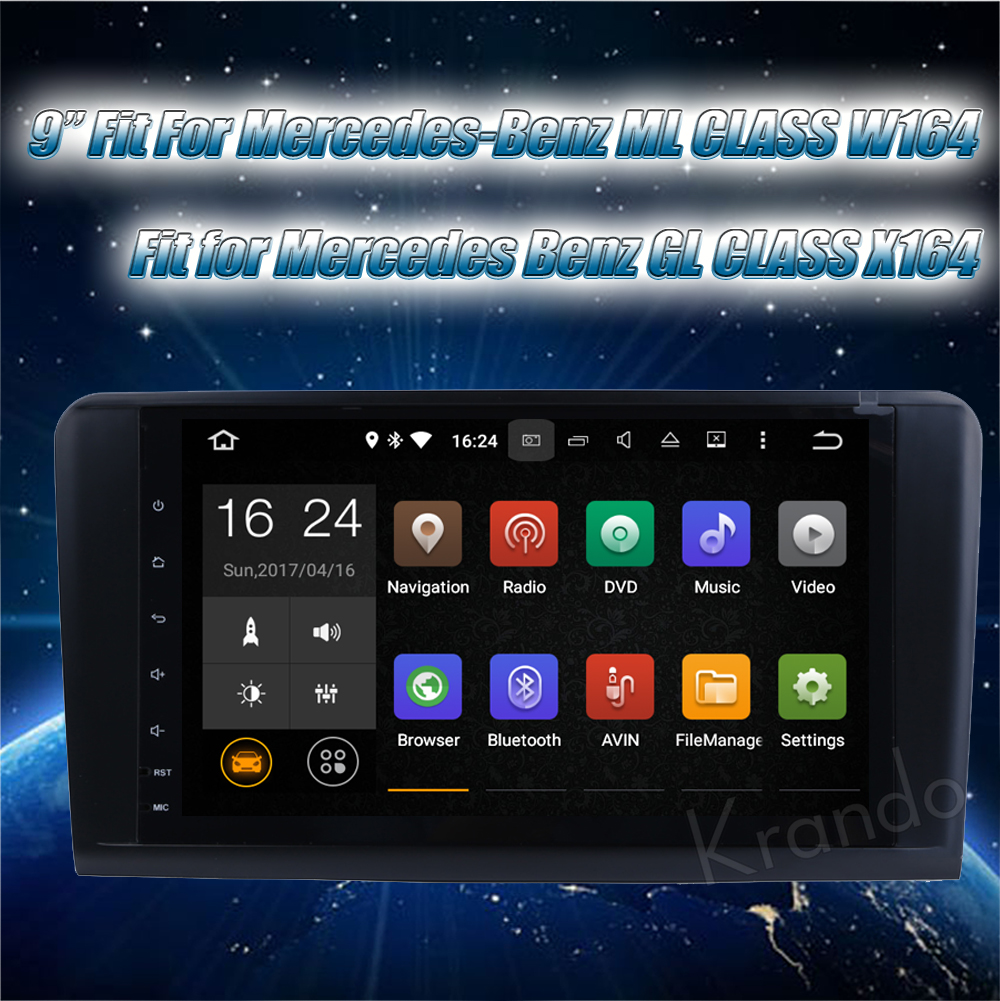 Krando Benz ML Class W164 car radio GPS navigation system (1)