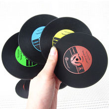 2017 New Retro Vinyl CD Album Record Drinks Coasters Bar Table Cup Glass Skid Mat Holder