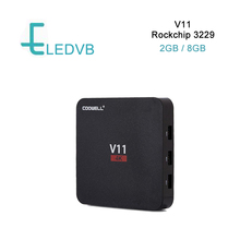 50 pcs/lots DHL free 2GB+8GB Android TV Box V11 OTT Box Rockchip 3229 Quad-core Android 5.1 (up to 6.0) Mini Media Player