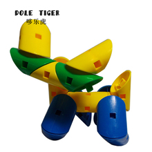 Dole tiger 43 Interesting Wild Card DIY Plastic Building Puzzle Toy Building 500g/Bag(China)
