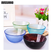 OUSSIRRO Glass Bowl Instant Noodles/Steamed Rice Soup Bowl Of Korean Style Melamine Tableware Melamine Noodles Bowl