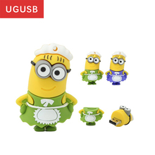 Hot cheap ! Cute Cartoon Maid Minion PVC Usb flash drive Pen drive Usb memory stick pendrive Usb disk 1GB 2GB 4GB 8GB 16GB 32GB(China)