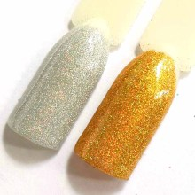 50g Holographic Powder 0.2mm Loose Glitter Powder for Nails Design Shines Metalic Silver Glitter Polish Dust Paillette SF0042