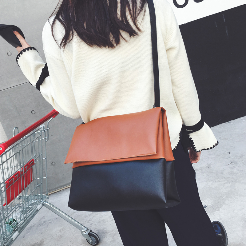 Korean Hit Color Shoulder Bags Female Bag 2017 New Fashion Shoulder Messenger Bag High Quality Casual Handbags Bolsas Femininas<br><br>Aliexpress